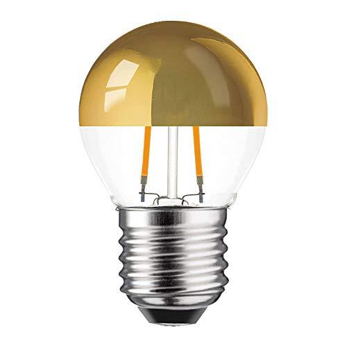 LED Filament Kopfspiegel Tropfen 2W = 25W E27 KVG warmweiß retrofit Nostalgie (2 Watt 2700K gold, 1 Stück)