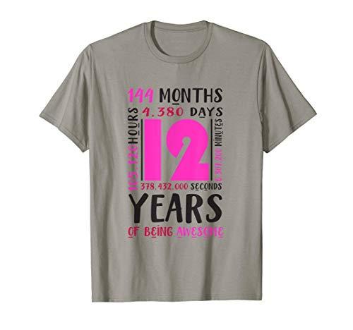 12. Geburtstag Hemd Mädchen Geschenk 12 Jahre Tochter Nichte T-Shirt