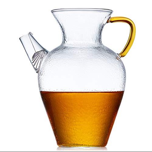 Gran Capacidad de Flores Tetera Transparente de Cristal del té Conjunto Espesada Alta Temperatura manija Resistente Inicio Tetera Bote (tamaño : 650ml)
