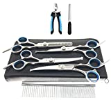 Best Dog Grooming Scissors - MAOCG Dog Grooming Scissors Set, Safety Round Blunt Review