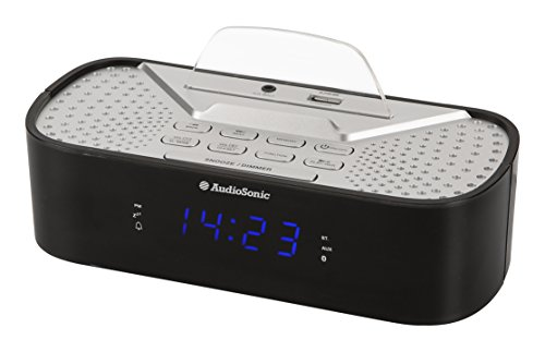 AudioSonic CL-1463 Horlogeradio Bluetooth USB-aansluiting zwart