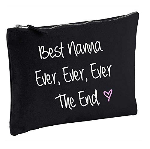 Meilleur Nanna jamais jamais jamais la fin Noir Make Up Sac cadeau Idée de cadeau Trousse de toilette