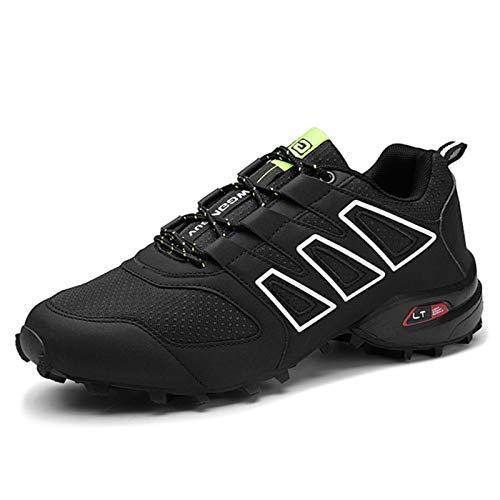 Calzado de Ciclismo para Hombre, Calzado de Ciclismo de Carretera, Bicicleta de Montaña, Calzado MTB, Calzado para Correr de Ocio Antideslizante y Transpirable