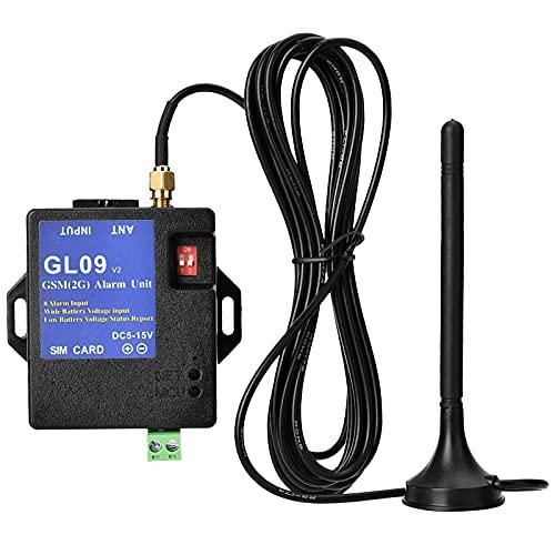 Alarma GSM, sistema de alarma GSM 2G 8 canales Mini alarma intruso control remoto inteligente sistema de seguridad para el hogar bajo consumo apto para el hogar almacén de seguridad
