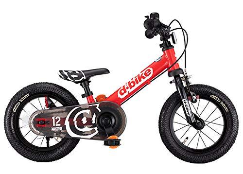 アイデス D-Bikemaster (ディーバイクマスター) 12 EZB(イージービー) レッド ペタルレスバイク→自転車へ5...