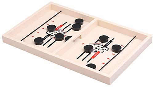 RSTJ-Sjap Slingpuck Board Game Juguete, Pinball Tabletop Double Game, Familia Educativa para Niños Reuniendo Padre-Niño Interactivo Juguete