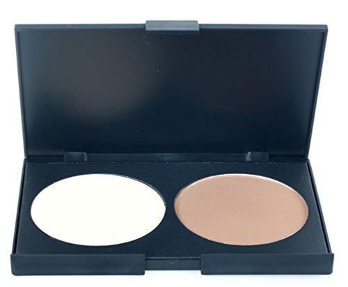 Pure Vie® 2 Couleurs Palette de Maquillage Poudre pour le Visage Correcteur Camouflage Cosmétique Set #2 - Convient Parfaitement pour une Utilisation Professionnelle ou à la Maison