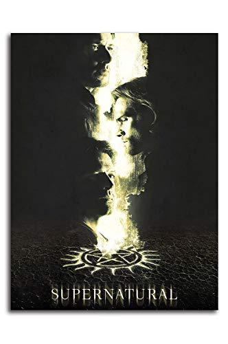 Ariago Sobrenatural Season 14 impresiones de lienzo decoración de pared de 61 x 91 cm Serie de TV Poster Dean & Sam Winchester Art Prints Decoración del hogar, sin enmarcar/enmarcar