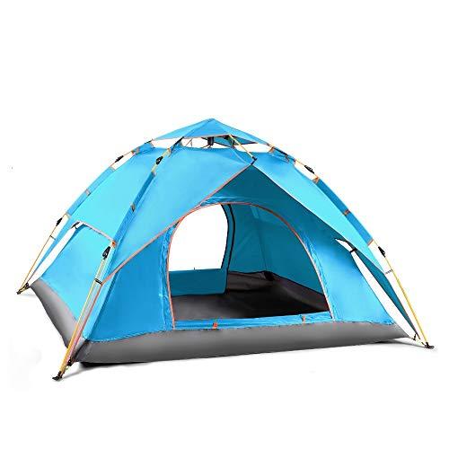 Betty Double-skin Tent Automatische Veergeladen Frame Driepersoons Camping Shelter (Camping Gear voor Wandelen, Backpacking, en Reizen)