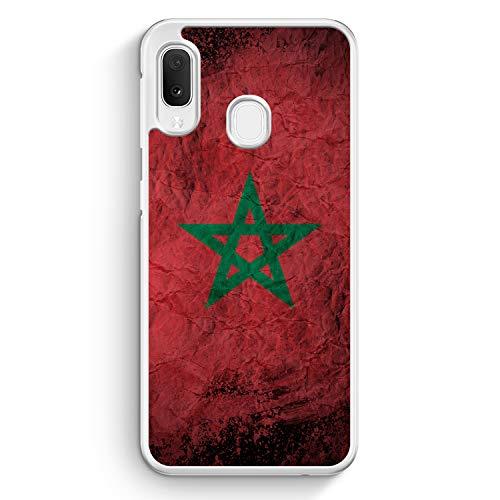 Marokko Splash Flagge - Hülle für Samsung Galaxy A20e - Motiv Design Morrocco Marokkanisch National - Cover Hardcase Handyhülle Schutzhülle Case Schale