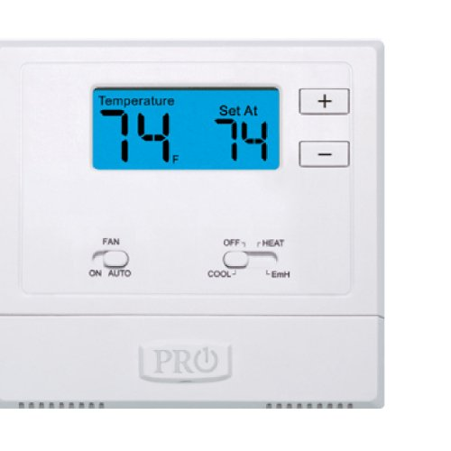 PRO1 IAQ T621-2 Single-Stage 2 Hot/1 Cold Non-Programmable Thermostat , White