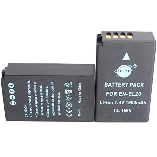 DSTE 2x EN-EL20 Li-ion Batería para Nikon Coolpix A, Nikon 1 J1, Nikon 1 J2, Nikon 1 J3,...