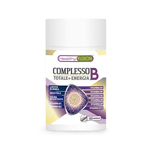 Complesso di vitamine B con vitamine B1, B2, B3, B5, B6, B9, B12 | Complesso vitaminico B per rafforzare il sistema immunitario | Fornisce energia e protegge il sistema cardiovascolare | 60 capsule