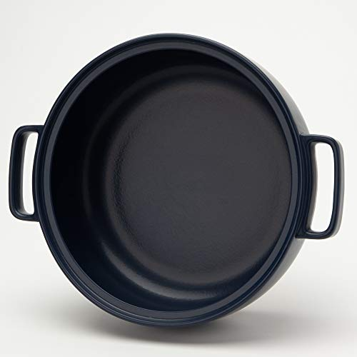 TAMAKI 土鍋 トート 4-5人用 ネイビー 直径33.7×奥行27.4×高さ12.8cm IH・直火・電子レンジ・オーブン対応 T-885291
