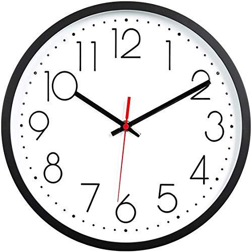 Lawei, orologio da parete silenzioso, non ticchettio, di qualità, facile da leggere per casa, ufficio, scuola, 30,5 cm