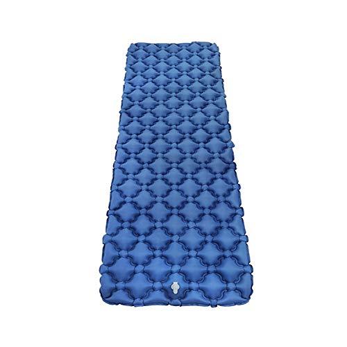 LXQ Shell Gonflable Tapis de Couchage Camping Mat Ultra léger air lit Camp lit imperméable à l'eau Sac à Dos randonnée Plage avec Air Support Cadre Design,Blue