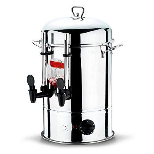 Uzman-Versand 9 Liter Teeautomat Teekessel Teebereiter Teekocher Glühweinkessel Glühweinkocher Glühweinautomat Heißgetränkeautomat Wassekocher Getränkeautomat Samovar Samowar Teespender Tee