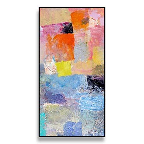 Pintura de Pared Pintura al óleo-Pintado a Mano Nórdico Moderno Simplicidad Original Color Abstracto Gran tamaño Decoración de Porche Pintura de Pared Mural para el hogar Restaurante Dormitorio