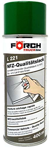 Förch L221 Truckline Lackspray 400ml John Deere Grün, Nutzfahrzeuglack für BAU- Landmaschinen Traktoren Mähdrescher