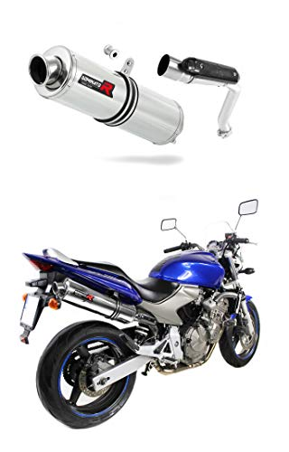 CB 600 F Hornet Escape Moto Deportivo Redondo Silenciador Dominator Exhaust Racing Slip-on 2003 2004 2005 2006