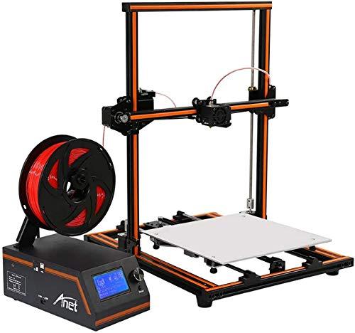 SAFGH 3D Printer E12 Large Printing Size 300 * 300 * 400Mm Aluminum Frame Desktop DIY Half Assembled Kit