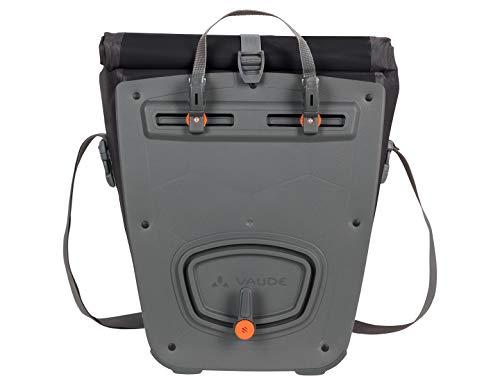VAUDE Aqua Back Fahrrad Tasche – wasserdichte Gepäckträger Tasche im praktischen 2er Set – Fahrradtasche aus robustem & PVC-freiem Planenmaterial – Made in Germany - 3