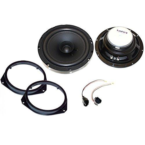 sound-way Haut-parleurs Enceintes bicone 16,5 cm - 120 Watts pour Fiat 500 ducato Grande Punto Evo/Alfa Romeo Mito Giulietta