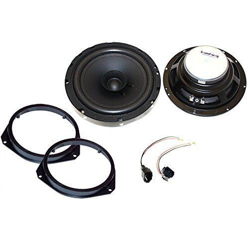 Sound-way Bicone Luidsprekers Speakers Autoradio 16,5 cm compatibel met Fiat, Opel, Citroen, Peugeot, Renault