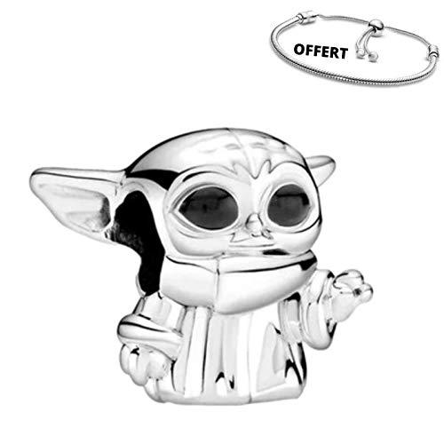 Belinia Prestige - Colgante Star Wars - para- pulsera o collar pandora - 925/1000 Sterling +1 pulsera ajustable GRATIS