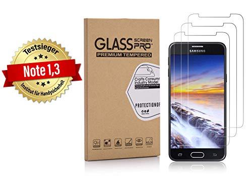 Weinstock-Science 3X Bruchsicheres Schutzglas für Samsung Galaxy J5 2017 und J5 2017 Duos Schutzfolie aus 9H Echt Glas
