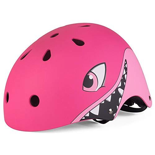 lingzhuo-shop Casco de Bicicleta eléctrico para niños Montar Equipo de protección Montar Casco de Patinaje de Bicicleta de acción