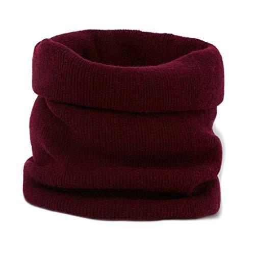Yan qing shop Infinity Lana Bufanda for Las Mujeres, Las Mujeres Caen Invierno cálido Cuello de Punto Acanalado Bufandas, Infinito círculo Loop Bufanda (Color : Rojo)