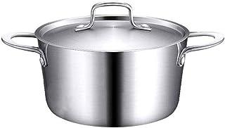 Olla, grande y pesada olla de cocción con tapa, de la olla, cacerola antiadherente, acero inoxidable DAGUAI