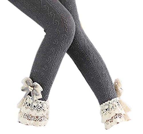 Black Temptation Chaussures en Mousseline de Coton à Manches en Dentelle de Mode pour Les Collants de Printemps/Automne, 05