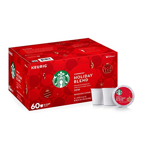 Starbucks Single Cup Coffee, K Cup Pods (60ct Holiday Blend)