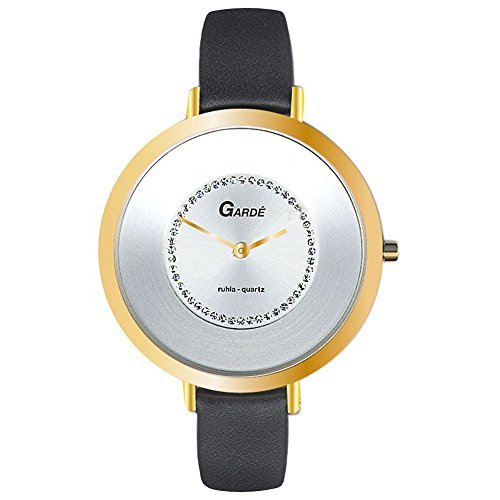 Garde da donna orologio da polso elegante analogico braccialetto di cuoio...