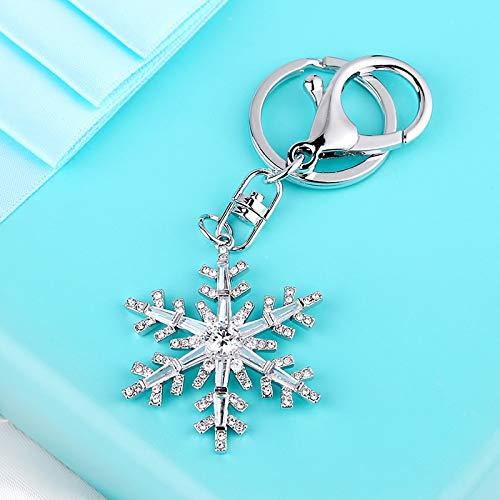Keychian Snowflake Key Ring Creative Crystal Bag Pendant Personalized Key Rings Female Chain Ornament Gift