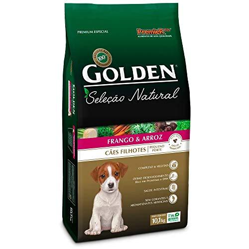 Ração Golden Seleção Natural para Cães Filhote Raças Pequenas Sabor Frango e Arroz, 10,1kg Premier Pet Para Todas Grande Filhotes,