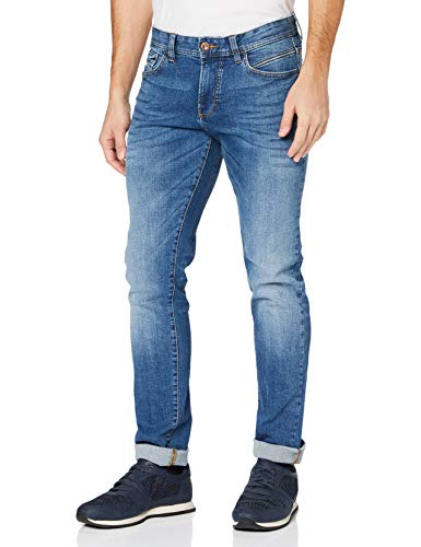 Camel Active Herren 5-Pocket Houston Straight Jeans, Blau (Mid Blue Used 41), W36/L34