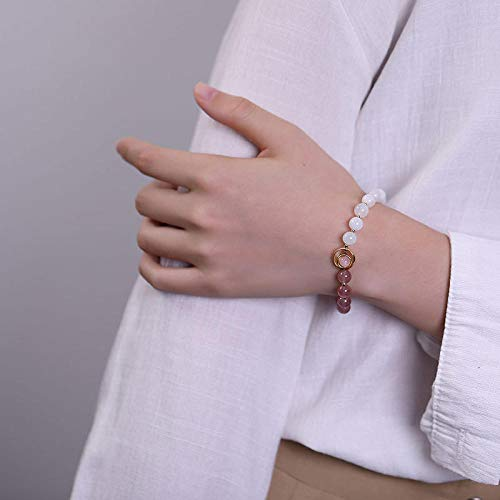 LLXXYY Armband voor vrouwen 925 sterling zilver, vergulde ring maansteen parels armbanden charme personaliseren sieraden voor vrouwen mannen baby meisjes