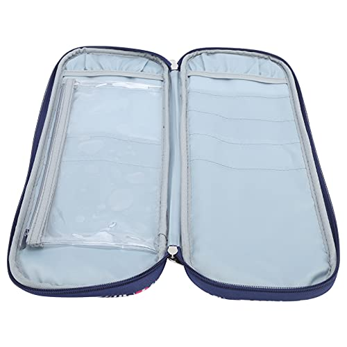 Bolsa de ganchillo, robusta, portátil, duradera, fácil de llevar, conveniente para llevar, bolsa de manualidades para mochila para uso profesional, para bolso de uso general(purple)