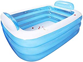 Full-Sized Family Inflatable Swimming Pool,Thickened Inflatable Pool 3-Ring Inflatable Lounge Pool Summer Backyard for Family Adult,Kids,Babies