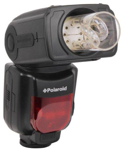 Polaroid - Flash a bulbo PL-135 con Zoom, regolatore Inclinazione & Rotazione per Canon Digital EOS M, Rebel T4i (650D), T3 (1100D), T3i (600D), T1i (500D), T2i (550D), XSI (450D), XS (1000D), XTI (400D), XT (350D), 1D C, 6D, 60D, 60Da, 50D, 40D, 30D, 20D, 10D, 5D, 1D X, 1D, 5D Mark 2, 5D Mark 3, 7D, G1 X, G15, G12, G11, G10, G9, SX50 Digital SLR Camera