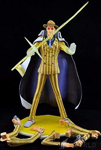 Hermosa Shanping Pop Amarillo Ape Great Yuan General Bolusalino Hecho a mano Estatua Modelo Modelo Decoración de la mesa, Colección de PVC Artesanía Decoración de la decoración Altura de regalo a unos