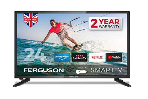 Ferguson F24RTS-12 Volt 24 inch Smart 12-volt LED TV with streaming apps and catch up TV built-in |...