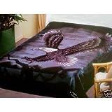 SOLARON King Two-Ply Black Eagle Mink Blanket