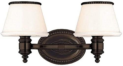 discount Hudson Valley wholesale Lighting 4942-OB Richmond 2 Light Bath lowest Vanity, Old Bronze Finish with Opal/Glossy outlet online sale