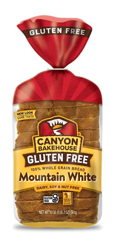 Canyon Bakehouse Gluten Free Bread, Mountain White Bread, 18 Ounce (Pack of 4)