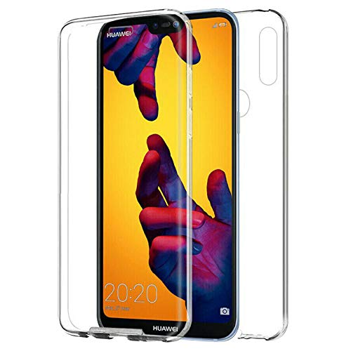 TBOC Funda para Huawei Y9 (2019) [6.5 Pulgadas] - Carcasa [Transparente] Completa [Silicona TPU] Doble Cara [360 Grados] Protección Integral Total Delantera Trasera Lateral Móvil Resistente