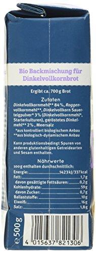 Bauckhof Dinkelbrot Vollkorn Demeter, 6er Pack (6 x 500 g) - 2